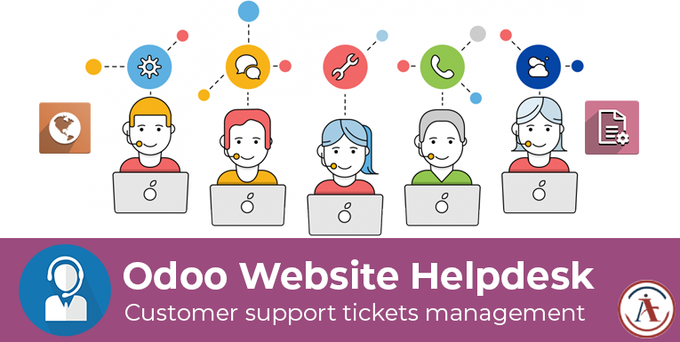 odoo website helpdesk system, issue management in odoo, customer support ticket odoo apps