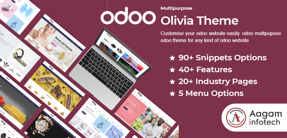 Odoo Theme Olivia by Aagam Infotech