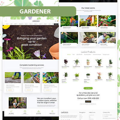Gardener wordpress theme