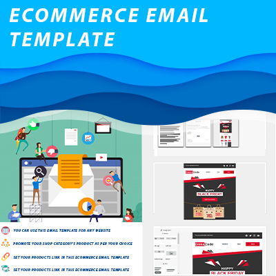 Ecommerce email template, black friday, holidays email template