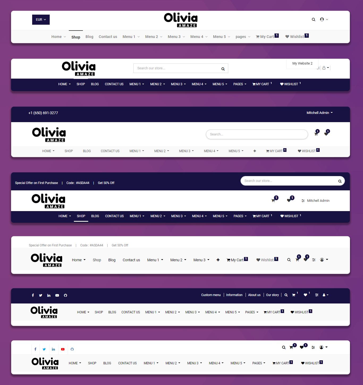 Odoo Olivia Theme Aagam