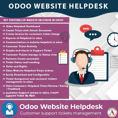 Odoo Website Helpdesk Support Ticket Module in Odoo
