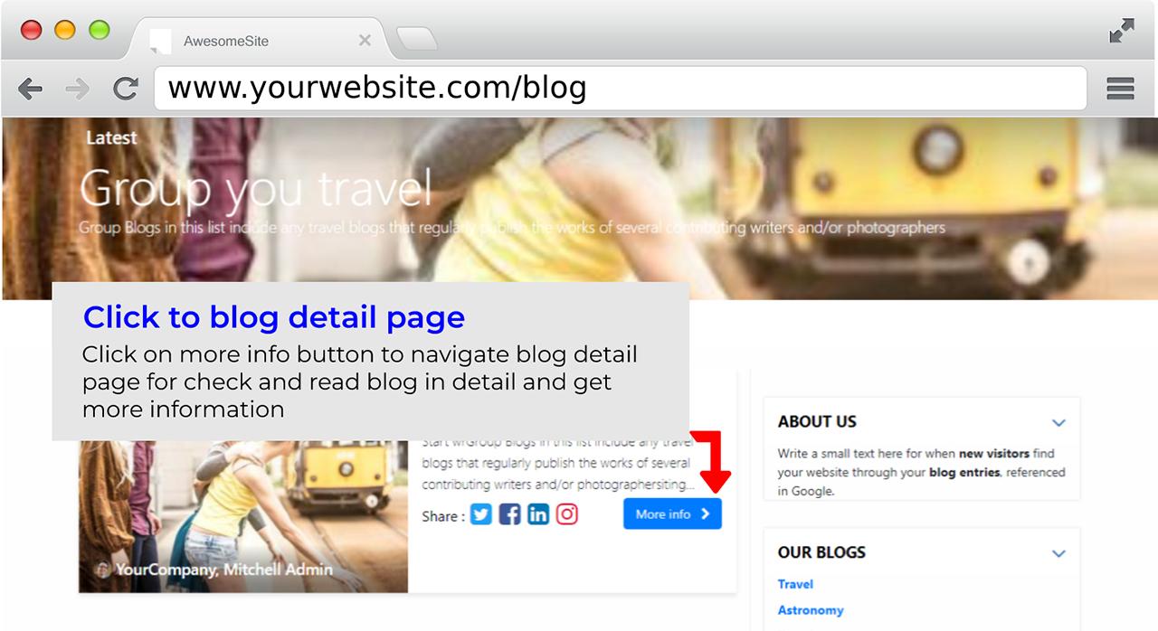 Blog Design Odoo Module