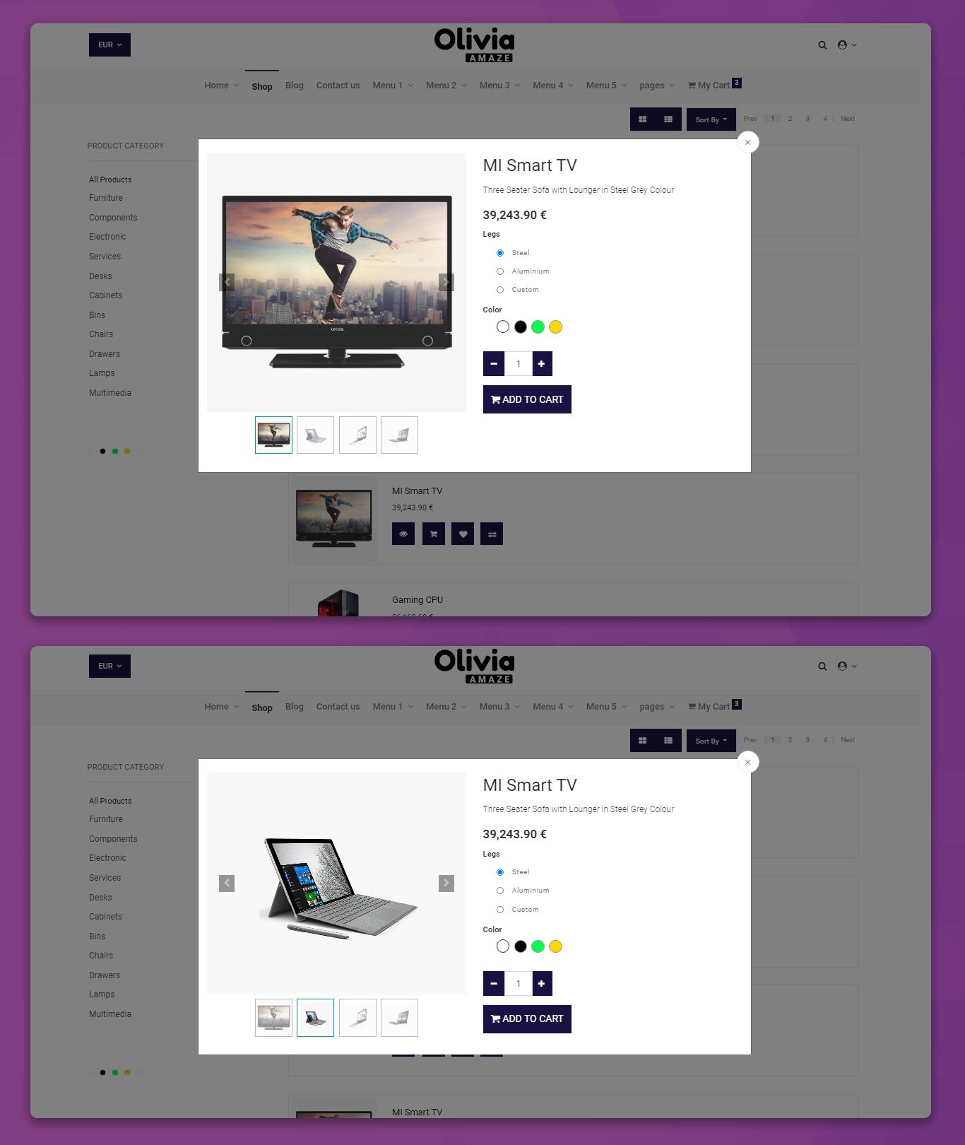 eCommerce odoo website