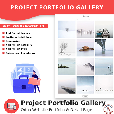 Project portfolio gallery for odoo website