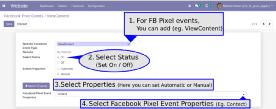 Odoo Facebook Pixel integration