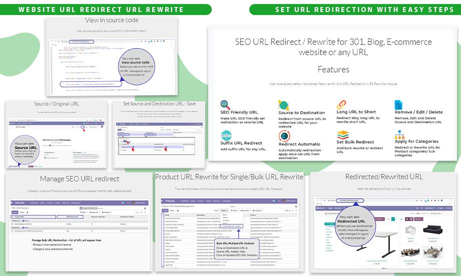 Website URL Redirect URL Rewrite
