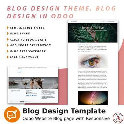 Blog design theme, blog design in odoo